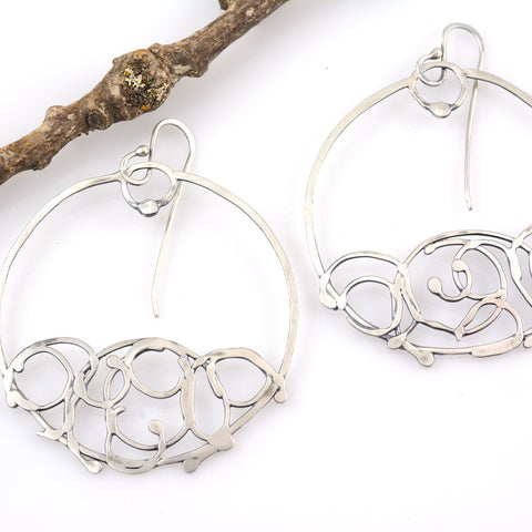 Circle Vine Earrings - Size Medium - Ready to Ship