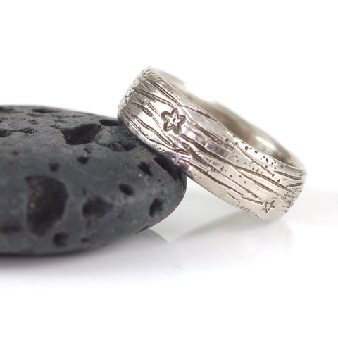 Galaxy Ring in Palladium/Silver - sz 8.5 - Ready to Ship - Beth Cyr Handmade Jewelry
