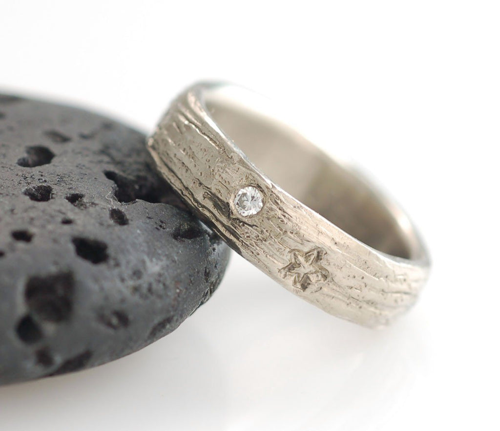 Galaxy Ring with Stones in Palladium/Silver - Made to Order - Beth Cyr Handmade Jewelry