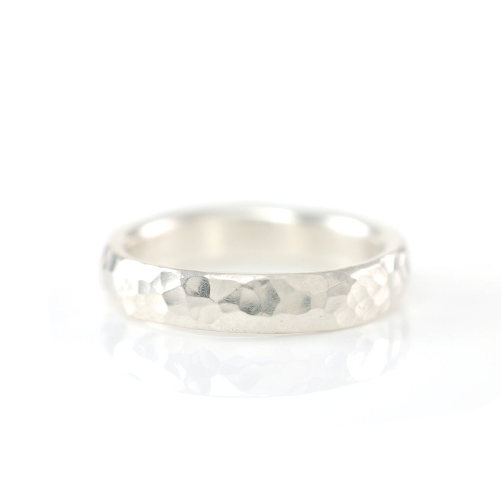 Hammered Ring in Sterling Silver - Size 6 3/4 - Ready to Ship - Beth Cyr Handmade Jewelry