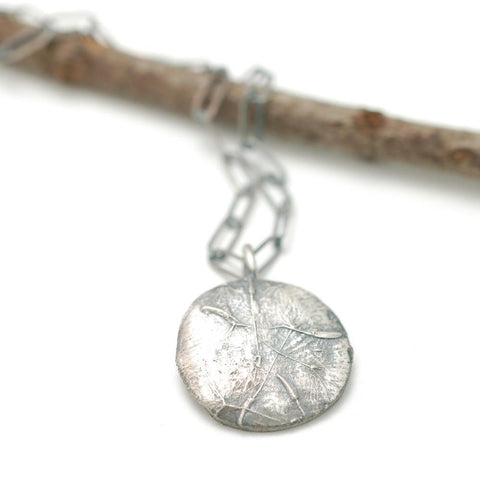 Dandelion Seed Pendant in Sterling Silver - Made to Order - Beth Cyr Handmade Jewelry