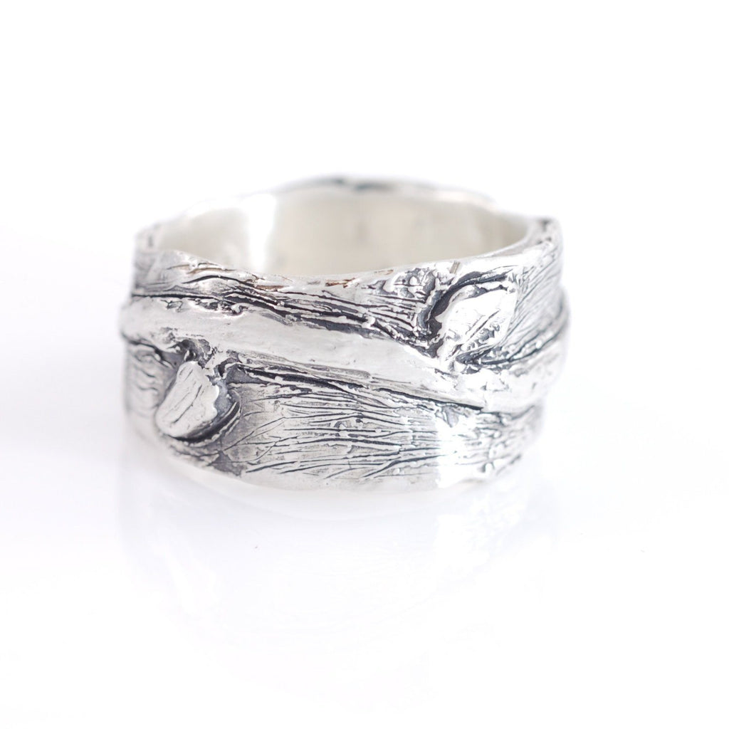 Vine and Leaves Ring in Sterling Silver - size 9 - Ready to Ship - Beth Cyr Handmade Jewelry