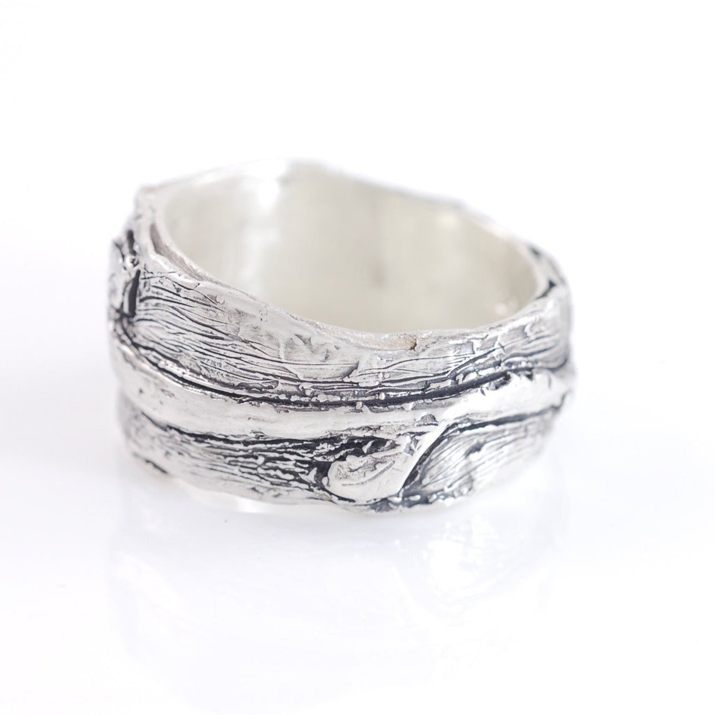 Vine and Leaves Ring in Sterling Silver - size 9 - Ready to Ship