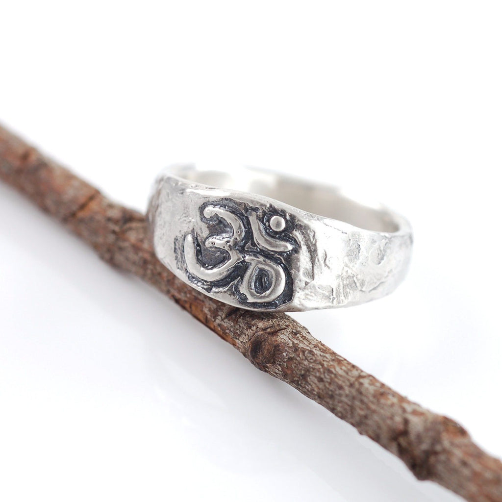 Om Ring - Narrow Version - Made to Order - Beth Cyr Handmade Jewelry