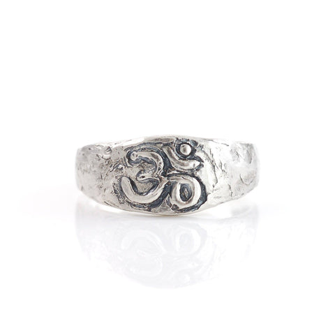 Om Ring in Sterling Silver - size 6.75 - Ready to ship - Beth Cyr Handmade Jewelry