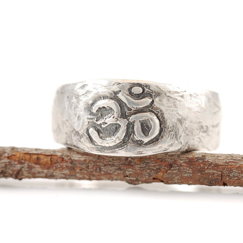 Om Ring - Wide Version - Made to Order - Beth Cyr Handmade Jewelry