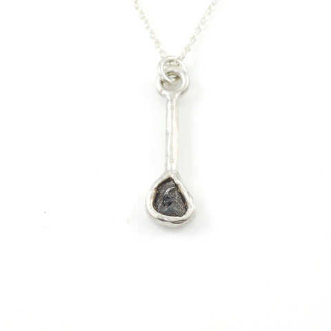 Meteorite Pendant in Sterling Silver - size Medium - Ready to Ship - Beth Cyr Handmade Jewelry