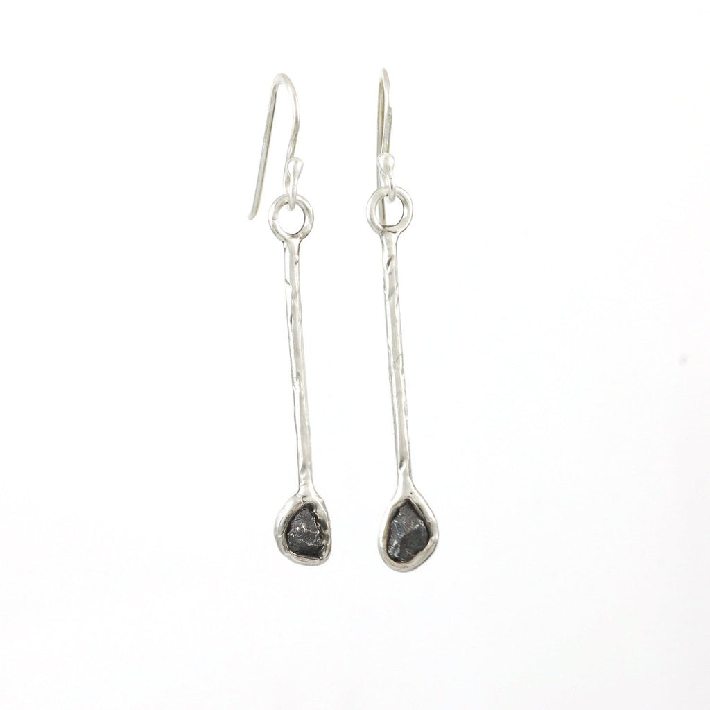 Meteorite Earrings - Size Large - Made to Order - Beth Cyr Handmade Jewelry