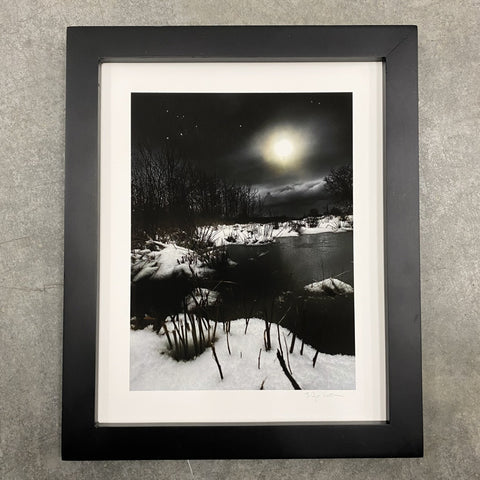 Winter Night Sky 31 - Winter lake - Photo Composite Print 2