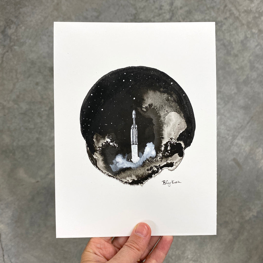 Rocket - Art Print - Inktober 2020 - Day 16