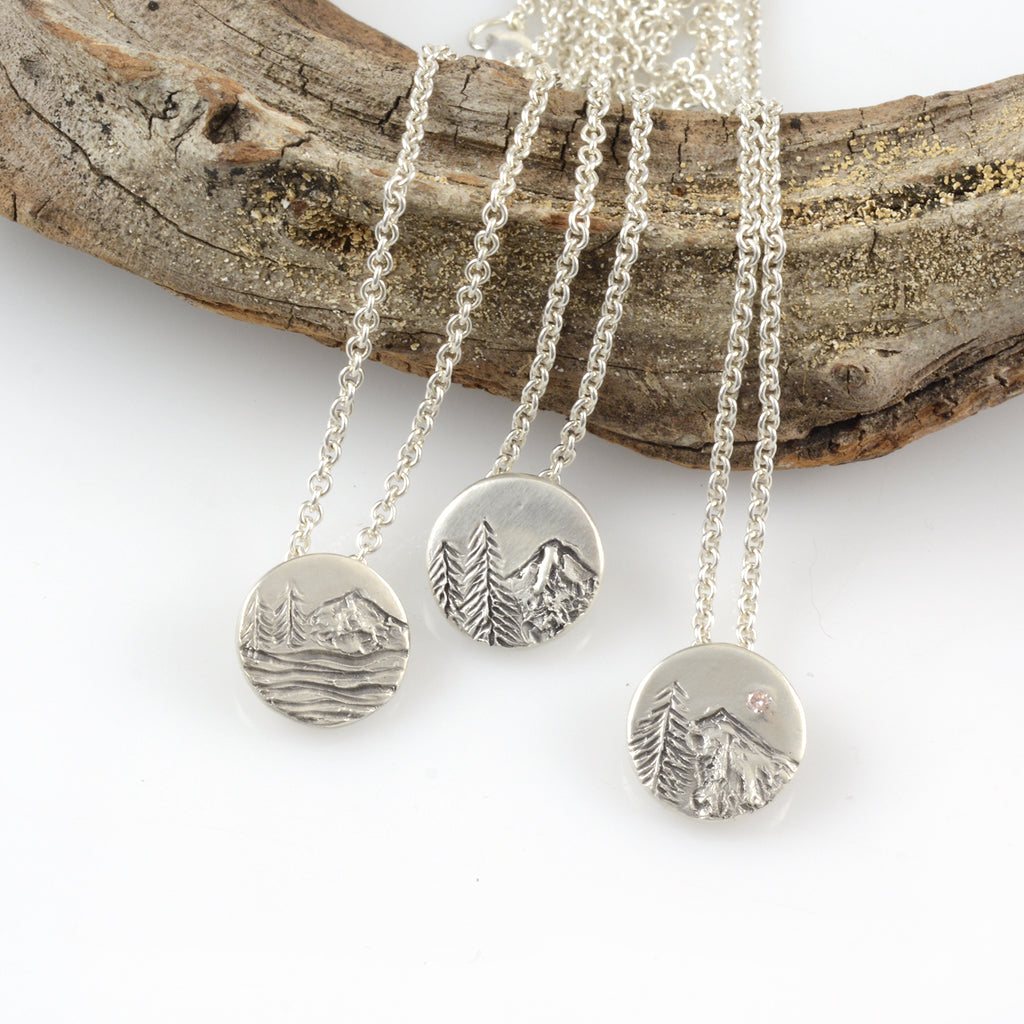 Custom Landscape Pendants - Sterling Silver - Made to Order