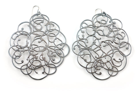 Organic Vine Earrings - Size Large - Ready to Ship - Beth Cyr Handmade Jewelry