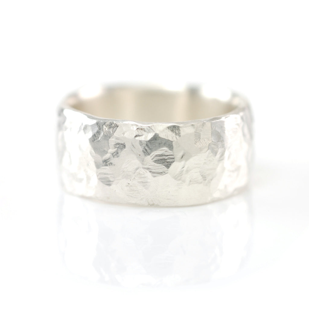 Love Rocks Hammered Ring in Palladium Sterling Silver - Size 6 1/4 - Ready to Ship - Beth Cyr Handmade Jewelry