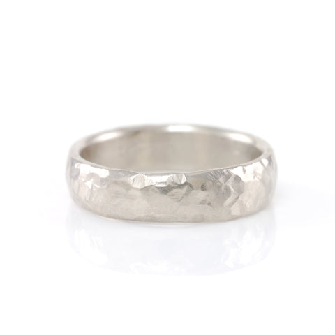 Love Rocks Hammered Ring in Palladium Silver Alloy - Size 3 1/2 - Ready to Ship - Beth Cyr Handmade Jewelry