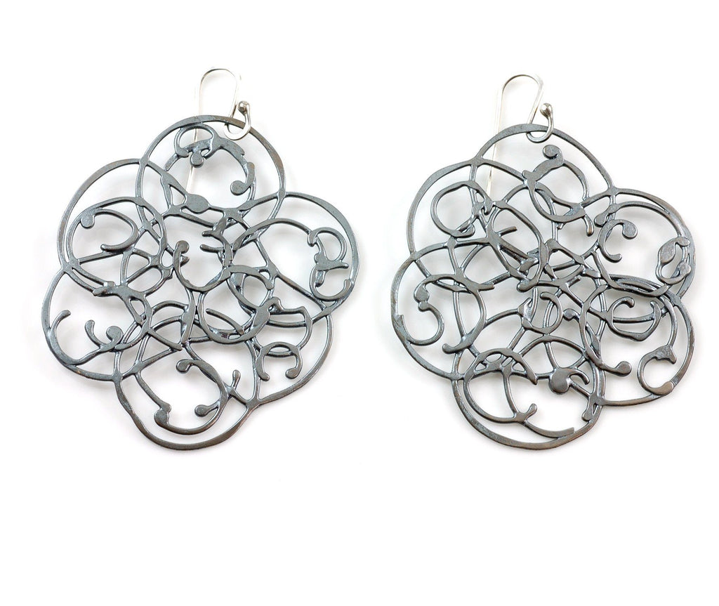 Organic Vine Earrings - Size Medium - Made to Order - Beth Cyr Handmade Jewelry
