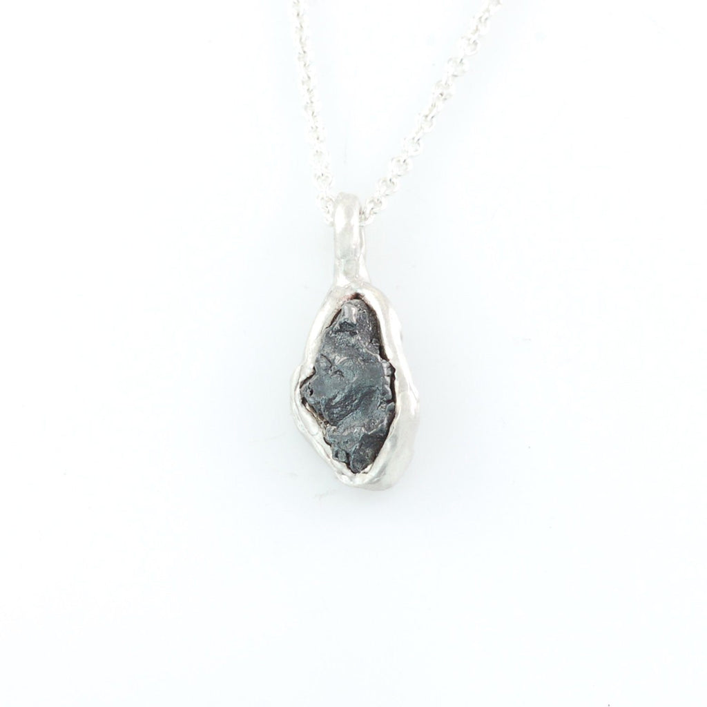 Meteorite Pendant in Sterling Silver #27 - Ready to Ship