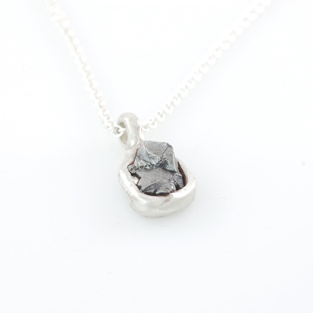 Meteorite Pendant in Sterling Silver #29 - Ready to Ship