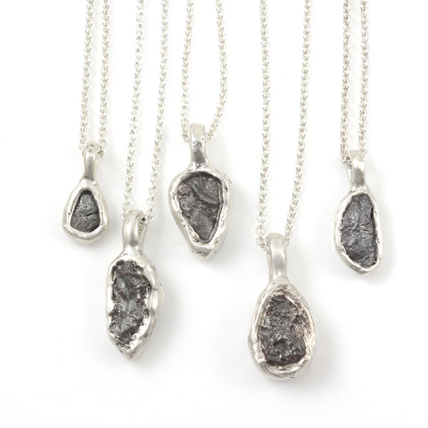 Meteorite Pendants in Sterling Silver - Ready to Ship