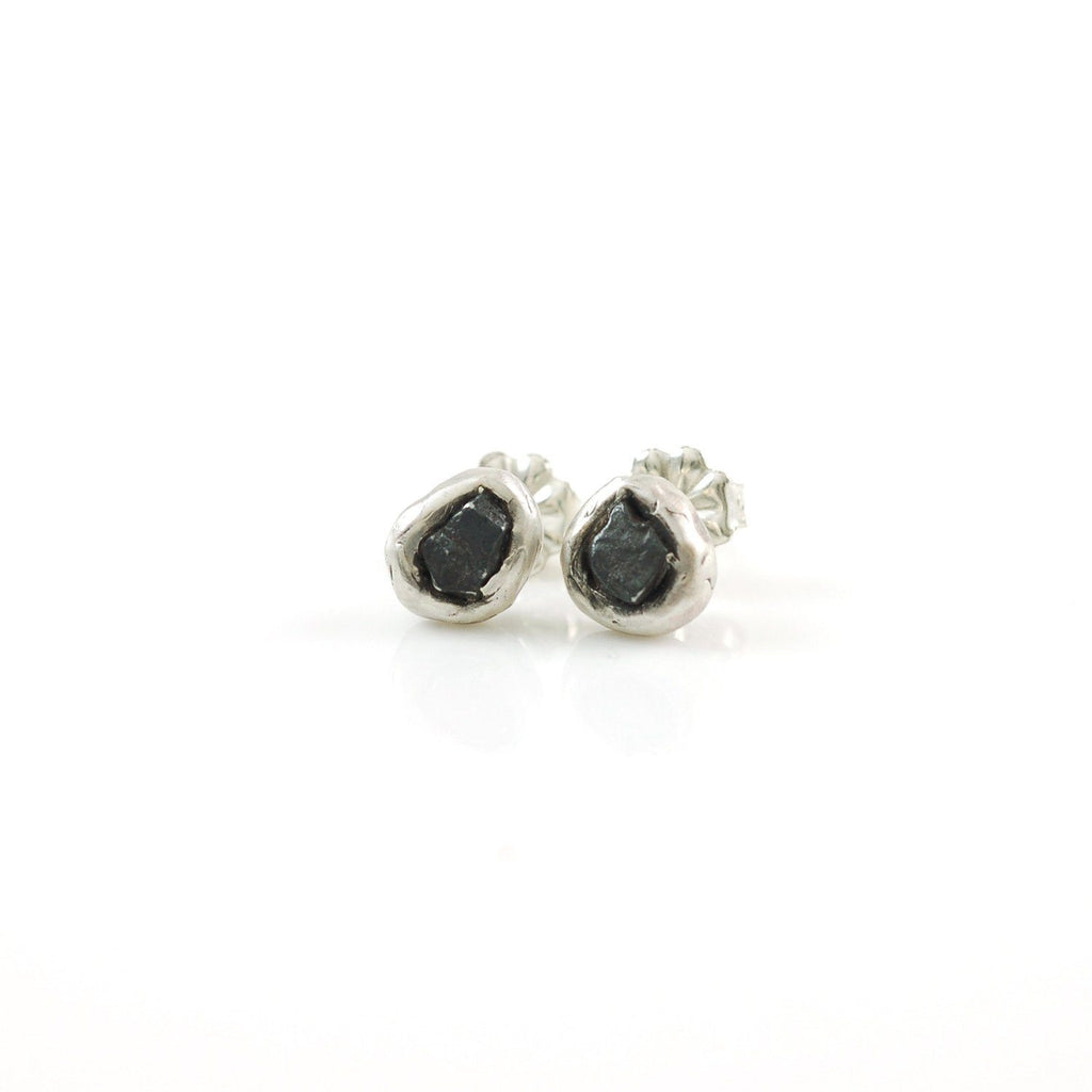 Meteorite Post Earrings - Made to Order - Beth Cyr Handmade Jewelry
