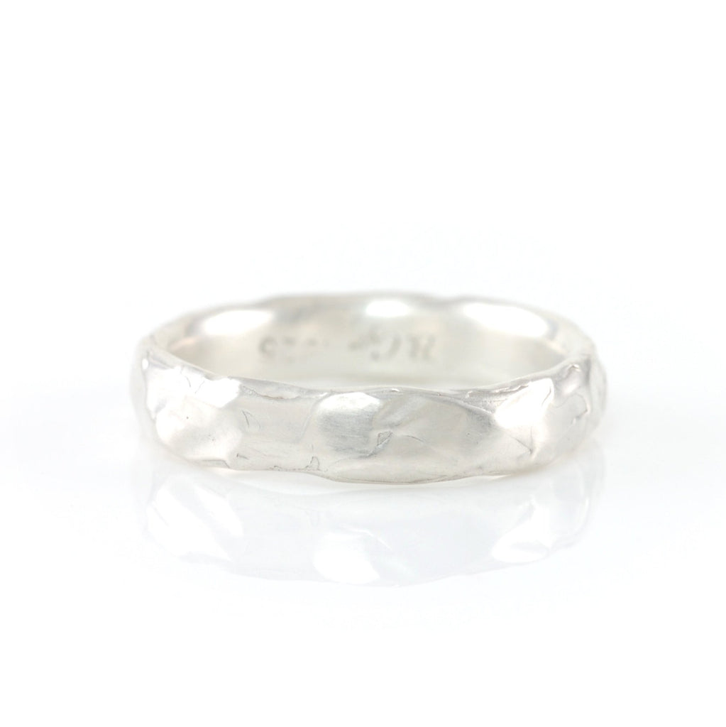 Molten Texture Ring in Palladium Sterling Silver - Size 6 - Ready to Ship - Beth Cyr Handmade Jewelry