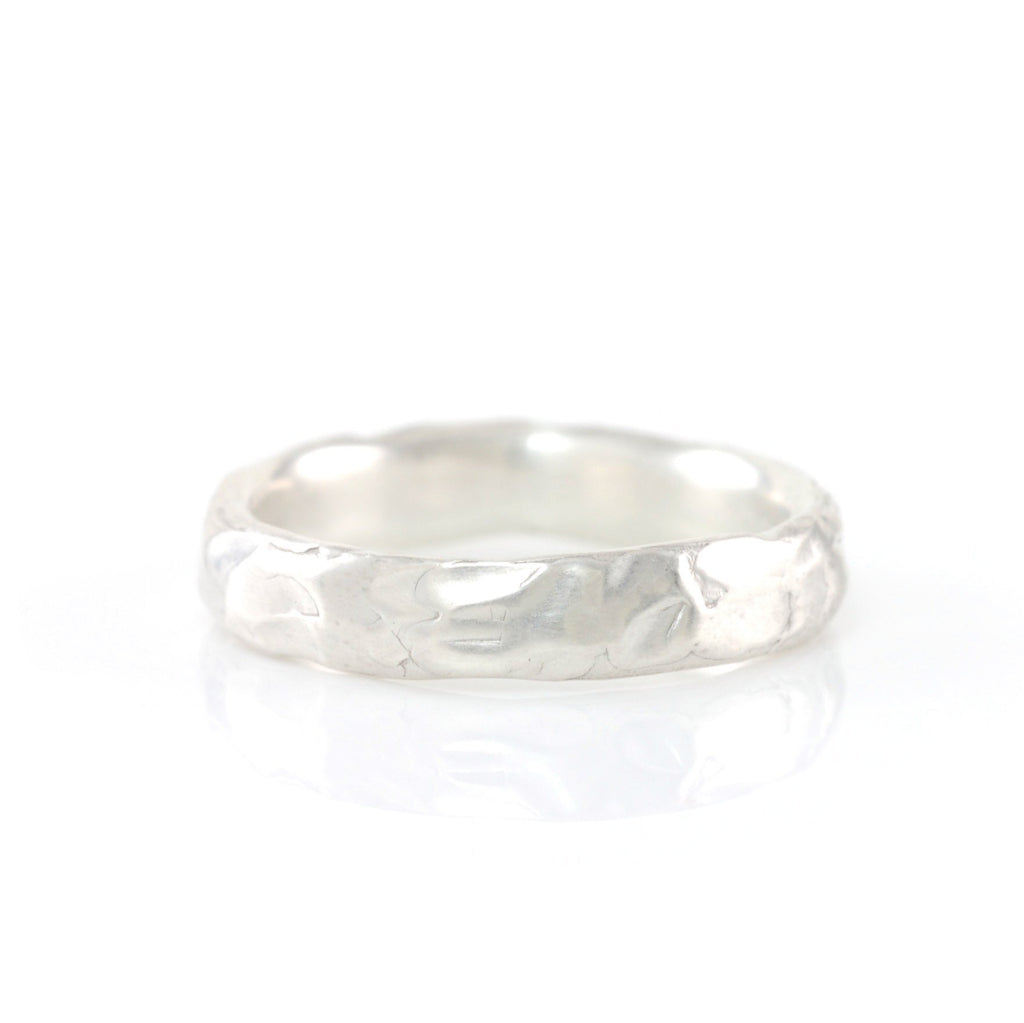 Molten Texture Ring in Palladium Sterling Silver - Size 6 - Ready to Ship