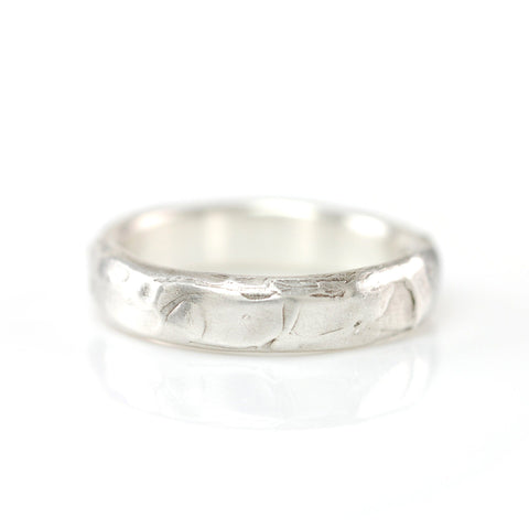 Molten Texture Ring in Palladium Sterling Silver - size 5 - Ready to Ship - Beth Cyr Handmade Jewelry