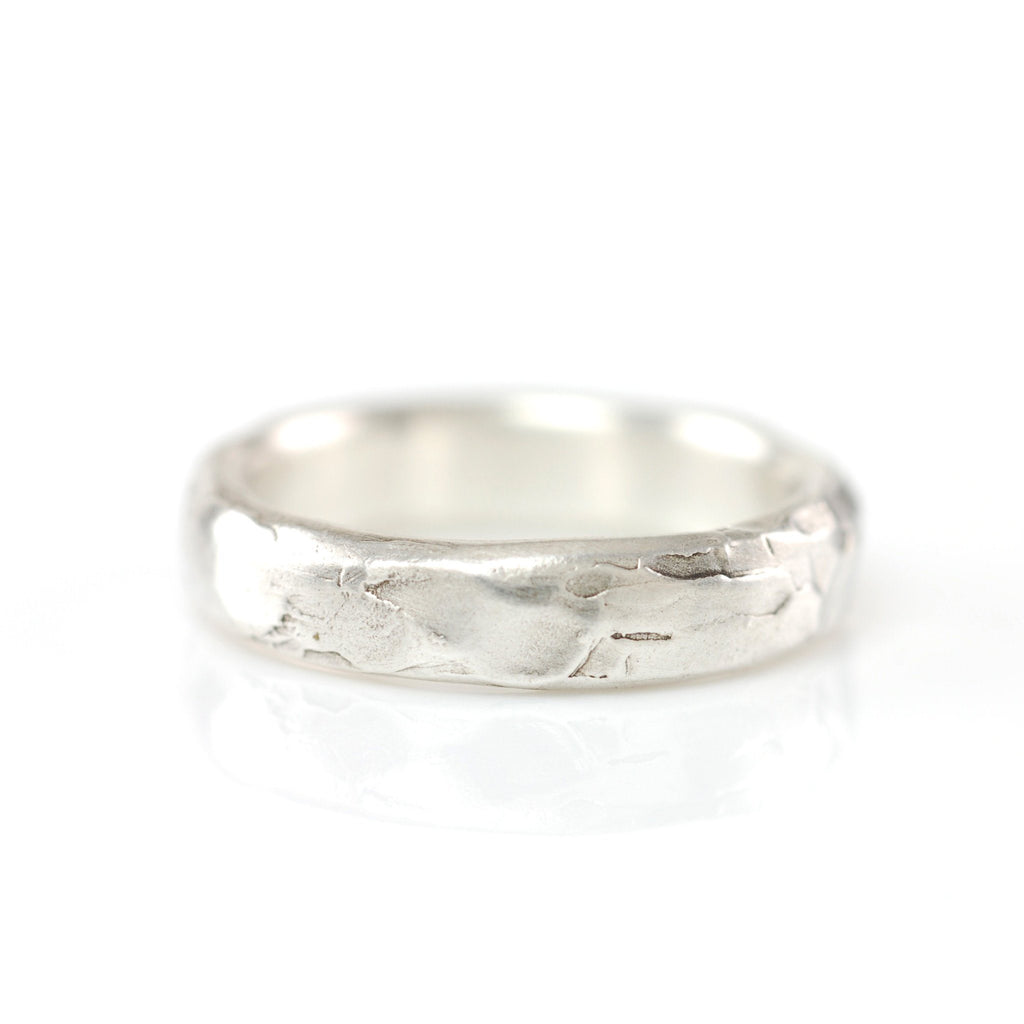 Molten Texture Ring in Palladium Sterling Silver - size 5 - Ready to Ship