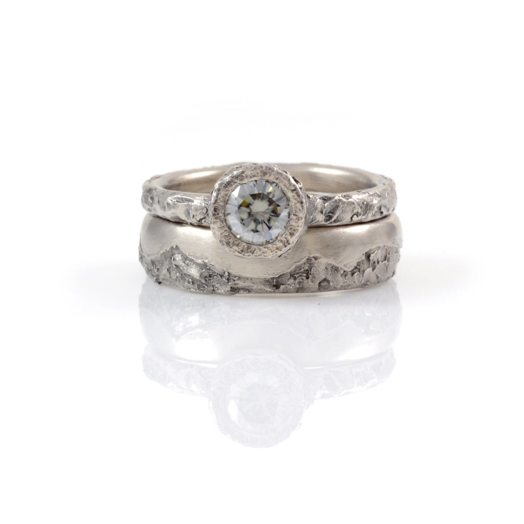 milgrain rings fire img products moissanite ring white gold bezel gray engagement and halo diamond sides