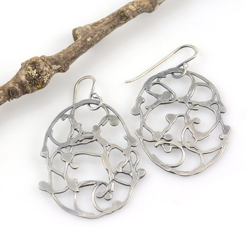 Oval Vine Earrings - Size Small - Ready to Ship