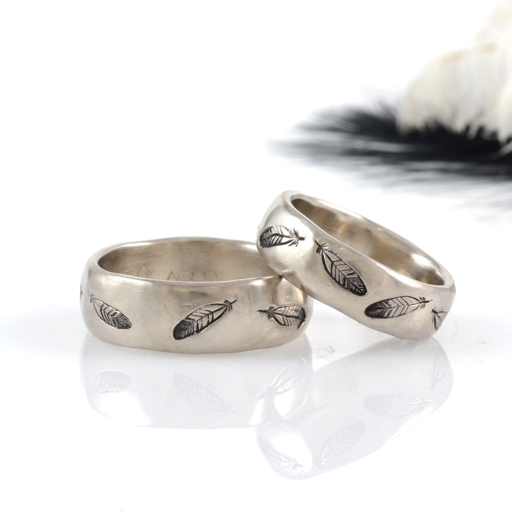 Custom Order Feather Rings