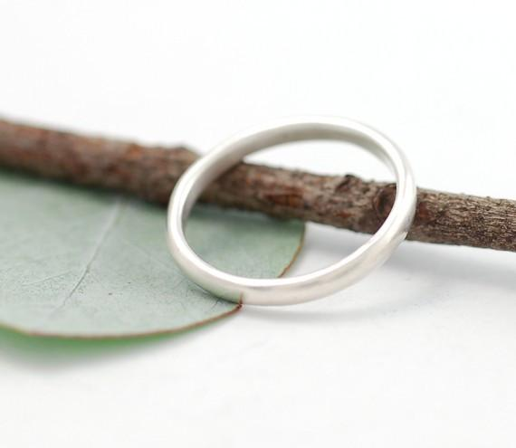 Simplicity Wedding Rings in Palladium Sterling Silver - Made to Order - Beth Cyr Handmade Jewelry