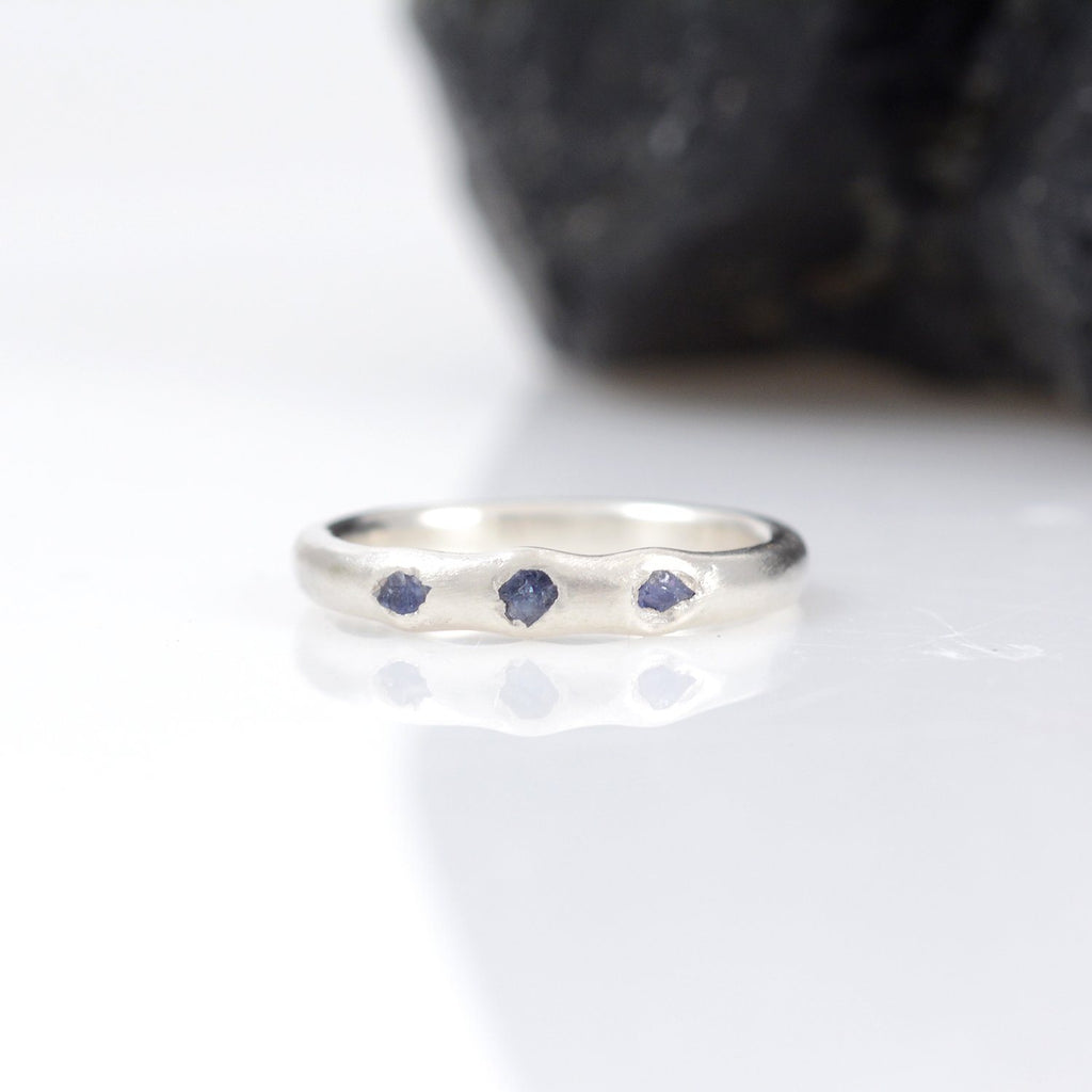 custom order rough sapphire ring - Beth Cyr Handmade Jewelry