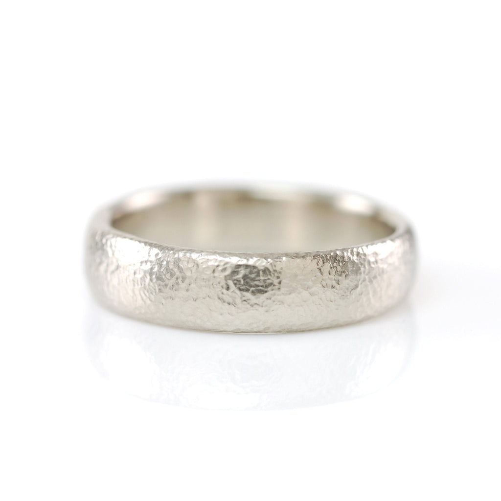 Sands of Time Wedding Rings in Palladium White Gold - Made to Order
