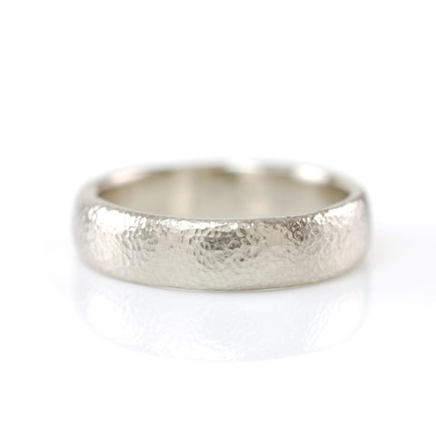 Sands of Time Wedding Ring in 14k Palladium White Gold - size 8.5 - Ready to Ship - Beth Cyr Handmade Jewelry