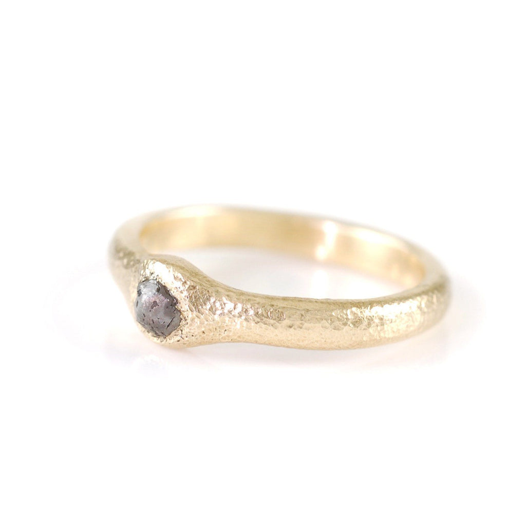 Sands of Time Engagement Ring in 14k Yellow Gold - Size 5 3/8 - Ready to Ship - Beth Cyr Handmade Jewelry