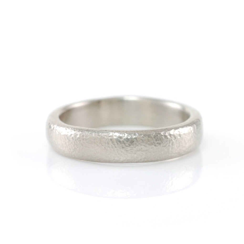 Sands of Time Wedding Ring in Palladium/Silver - Size 5 - Ready to Ship - Beth Cyr Handmade Jewelry