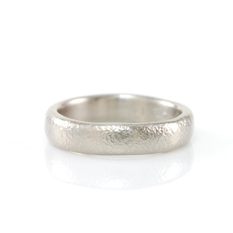 Sands of Time Wedding Rings in Palladium/Silver - Made to Order - Beth Cyr Handmade Jewelry