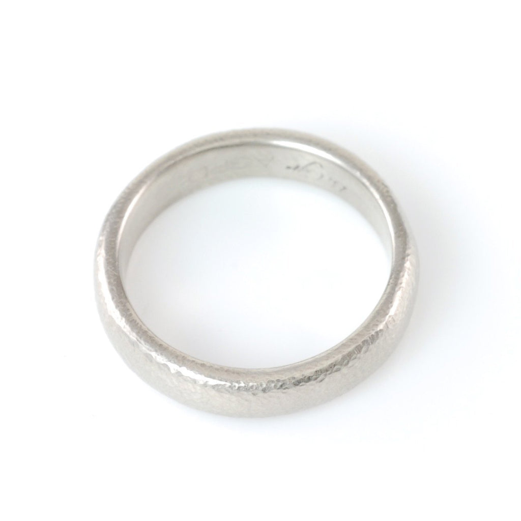 Sands of Time Wedding Rings in Palladium/Silver - Made to Order