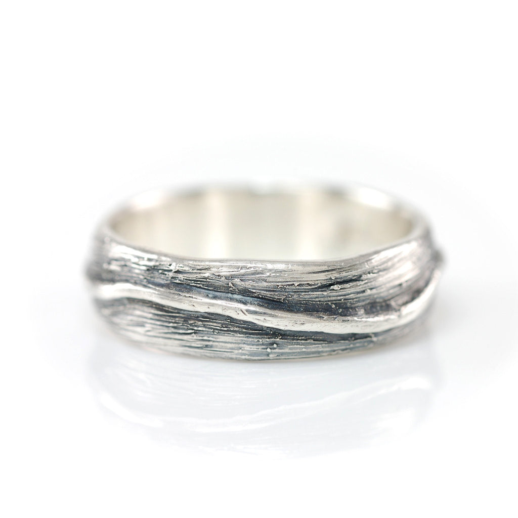 Shadowed Vine Ring in Palladium Sterling Silver - size 12.5 - Ready to Ship
