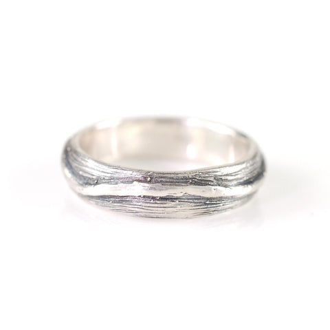 Shadowed Vine Ring in Palladium Sterling Silver - size 8.5 - Ready to Ship - Beth Cyr Handmade Jewelry