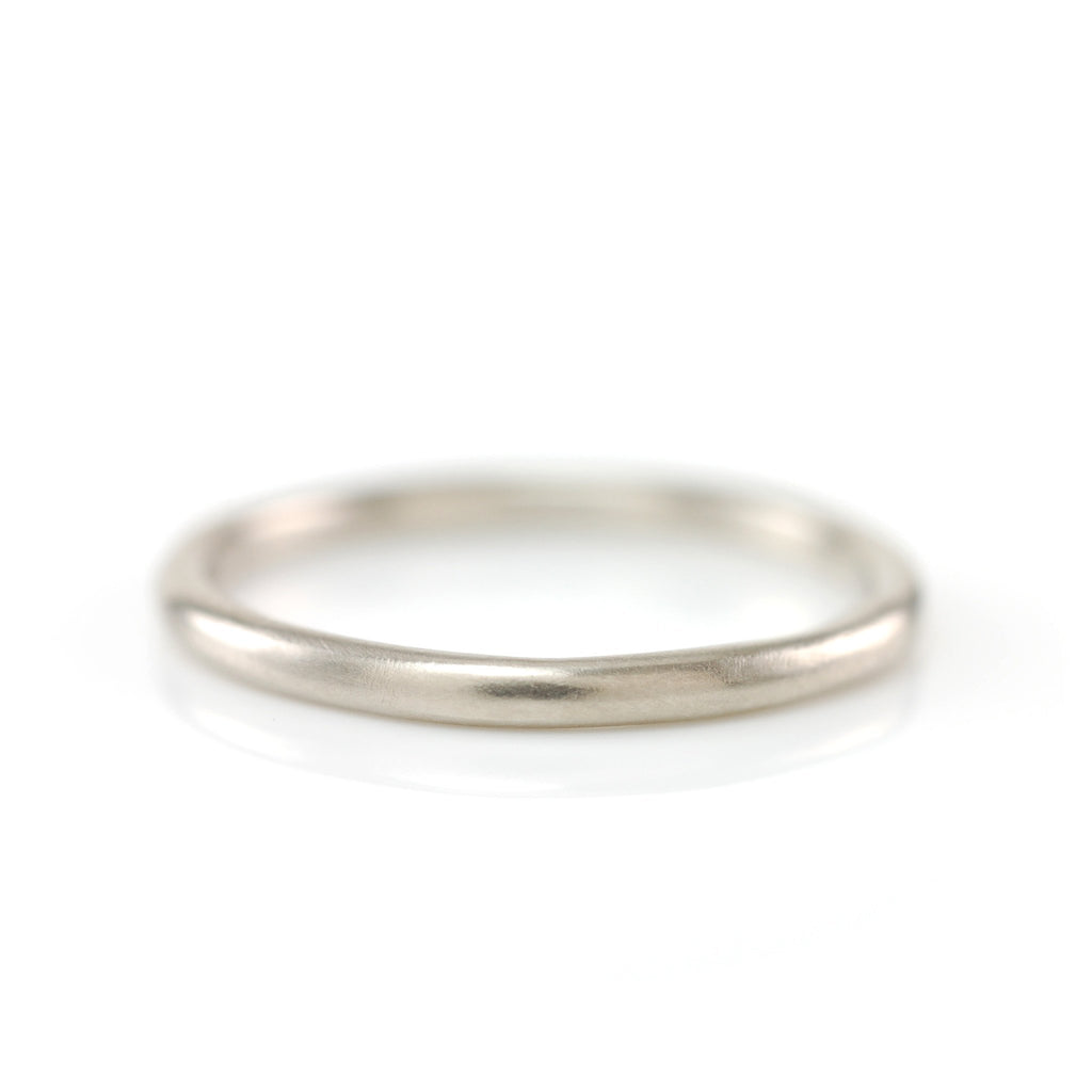 Simplicity Ring in 14k Palladium White Gold - 2mm size 10 -  Ready to Ship - Beth Cyr Handmade Jewelry