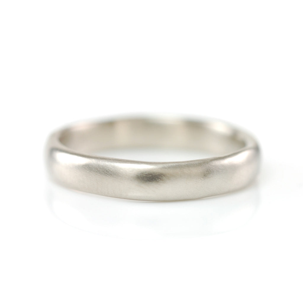 Simplicity Ring in 14k Palladium White Gold - 4mm size 10 -  Ready to Ship - Beth Cyr Handmade Jewelry