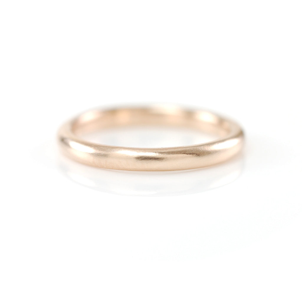 Simplicity Ring in 14k Peach Gold - Size 4 -  Ready to Ship - Beth Cyr Handmade Jewelry