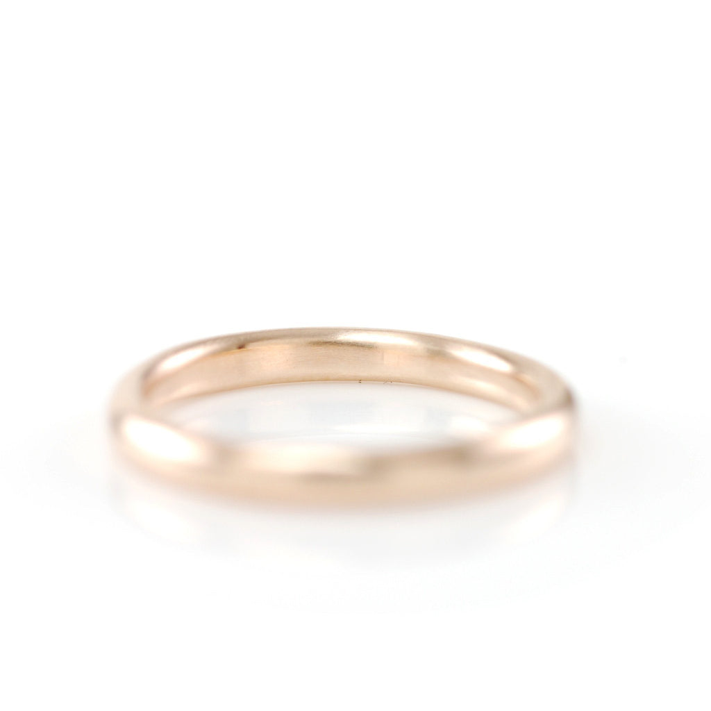 Simplicity Ring in 14k Peach Gold - Size 4 -  Ready to Ship