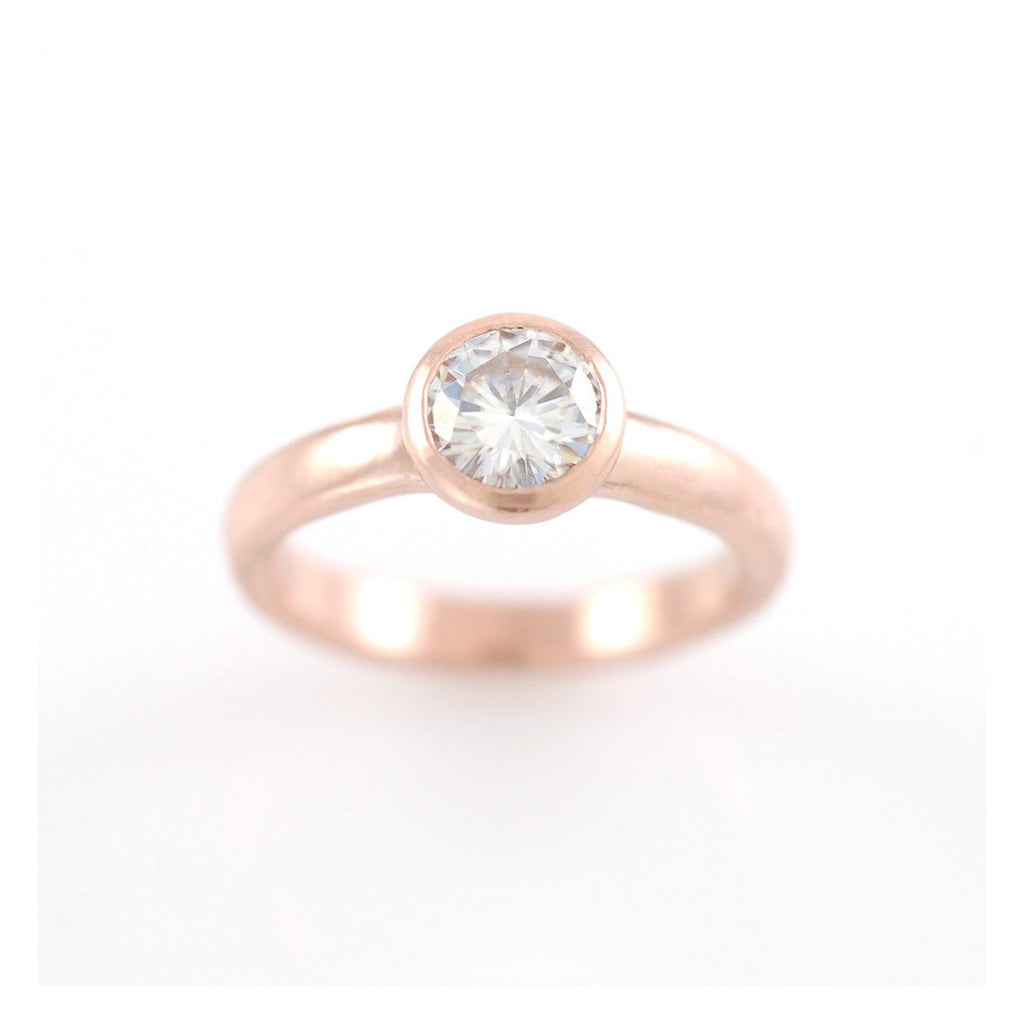 Simplicity Engagement Ring with Moissanite - Made to Order
