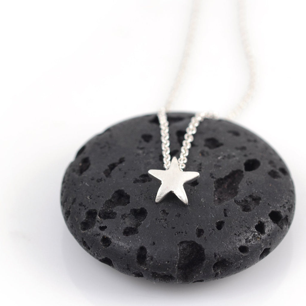 Single Star Pendant - sterling silver star charm - made to order