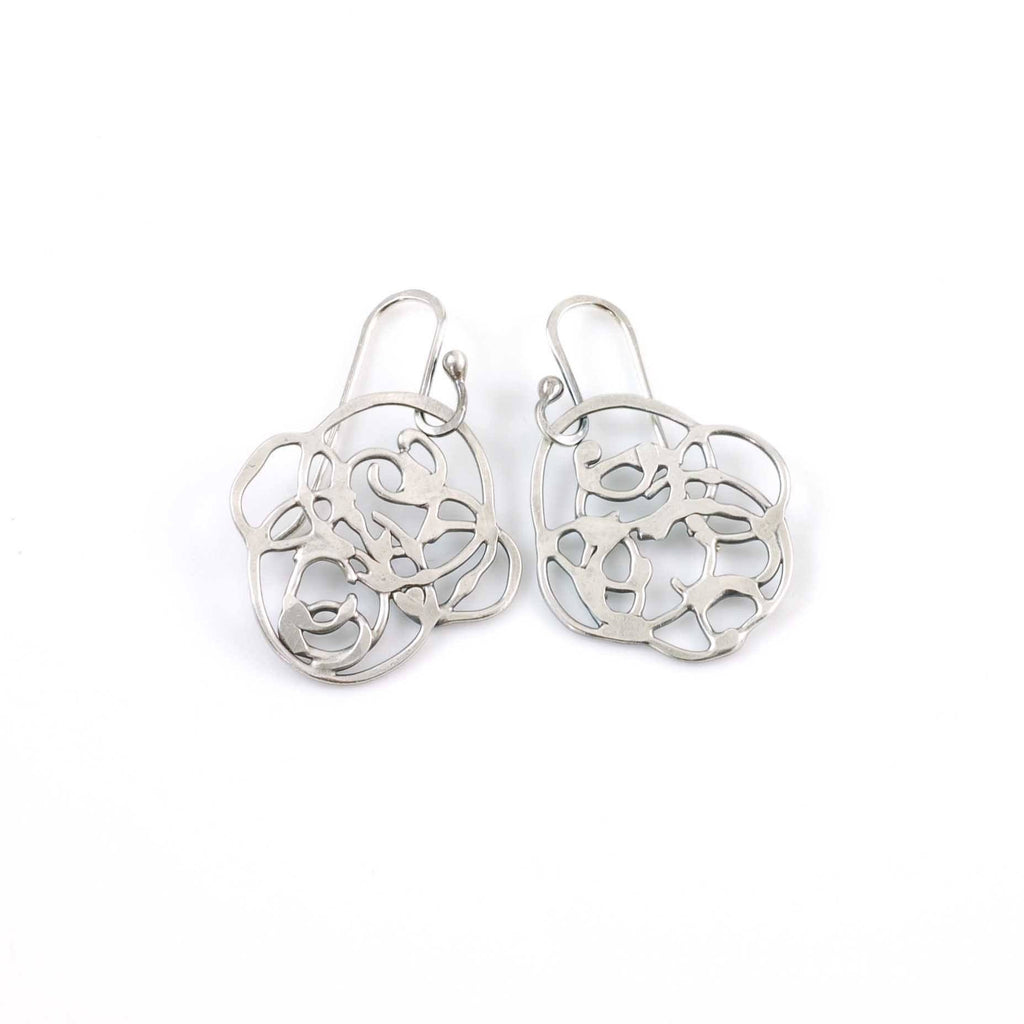 Organic Vine Earrings - Size Small - Made to Order - Beth Cyr Handmade Jewelry
