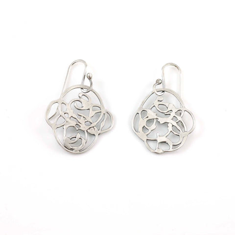 Organic Vine Earrings - Size Small - Ready to Ship - Beth Cyr Handmade Jewelry