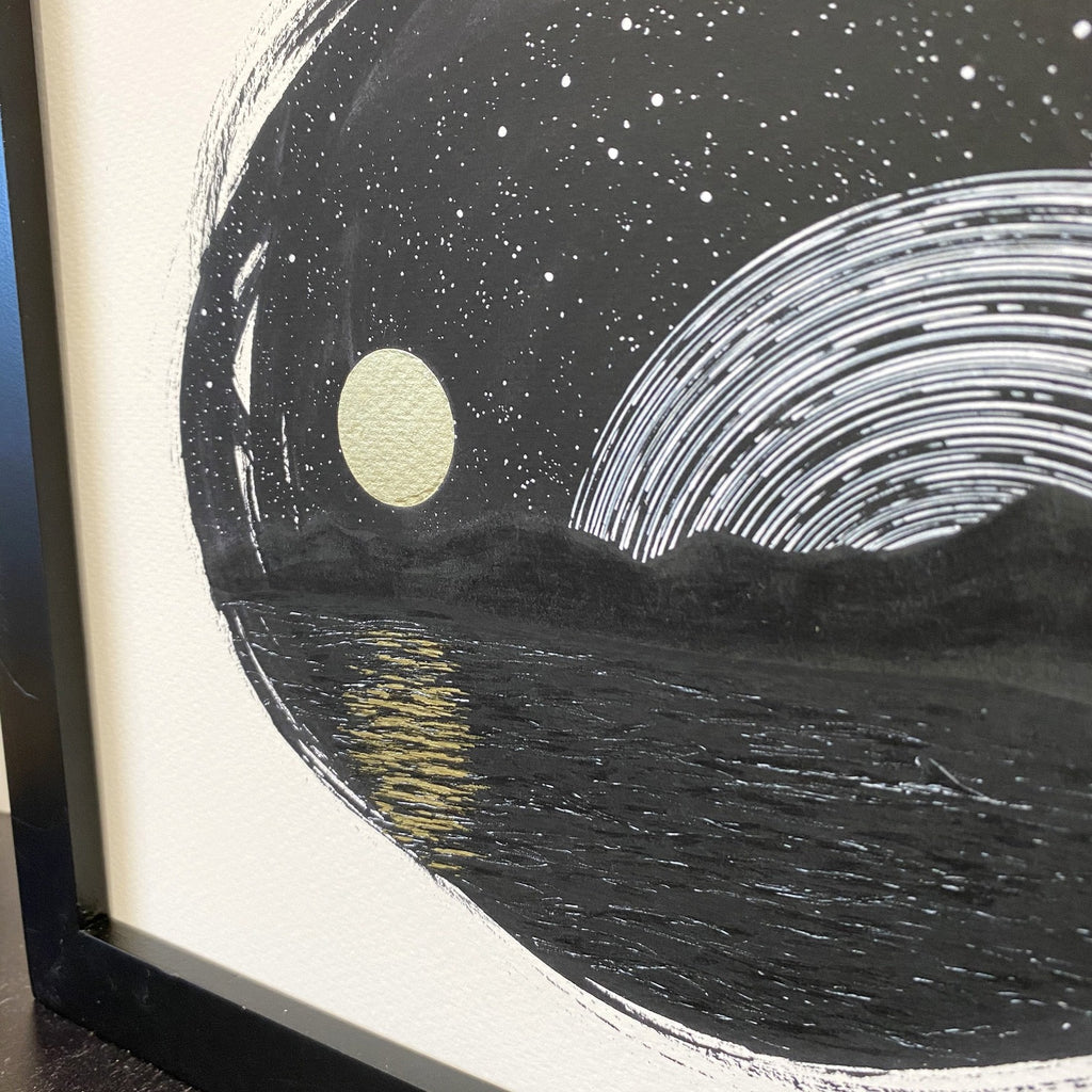 Space and Time Series - Drawing 7 - Hand Embellished Print - Ready to Ship