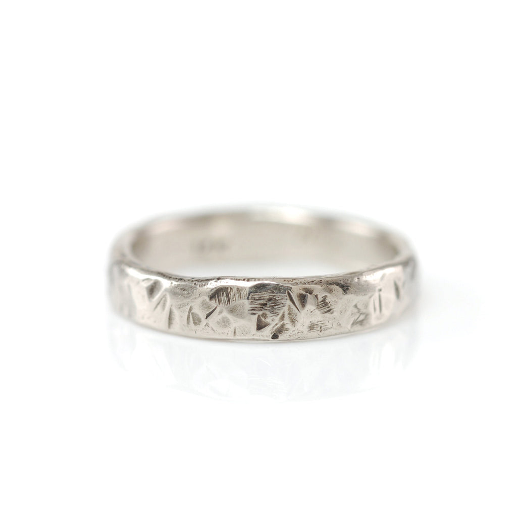 Tooled with Love Hammered Ring in Palladium White Gold - Size 5 3/4 - Ready to Ship